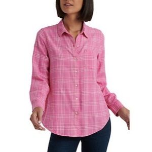 3/$30 nwt lucky brand pink and white flannel